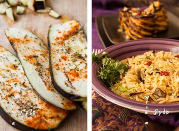 Grilled eggplant orzo 4